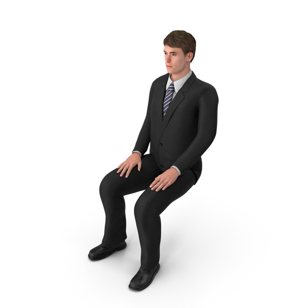 Businessman John Sitting PNG & PSD Images