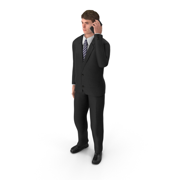 Businessman John Talking On The Phone PNG & PSD Images