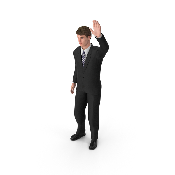 Businessman John Waving PNG & PSD Images