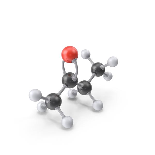Butanone Molecule PNG & PSD Images