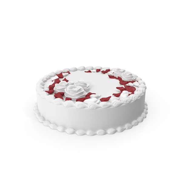 Butter Cream Rose Flower Cake PNG & PSD Images