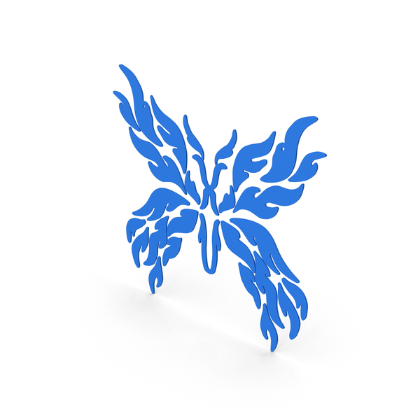 Butterfly Decal Blue PNG & PSD Images
