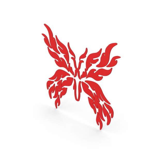Butterfly Decal Red PNG & PSD Images