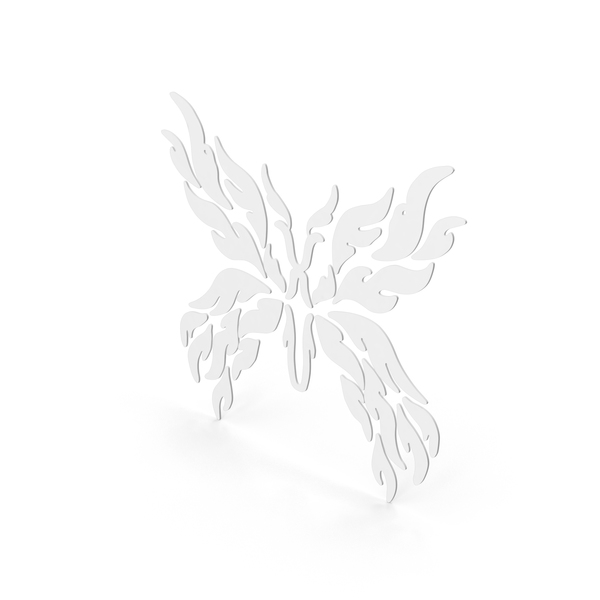 Butterfly Decal White PNG & PSD Images