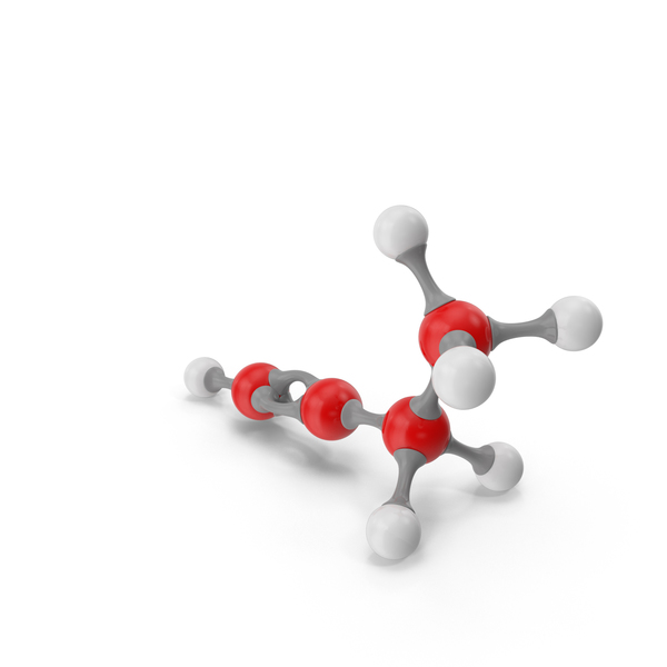 Butyne Molecular Model PNG & PSD Images