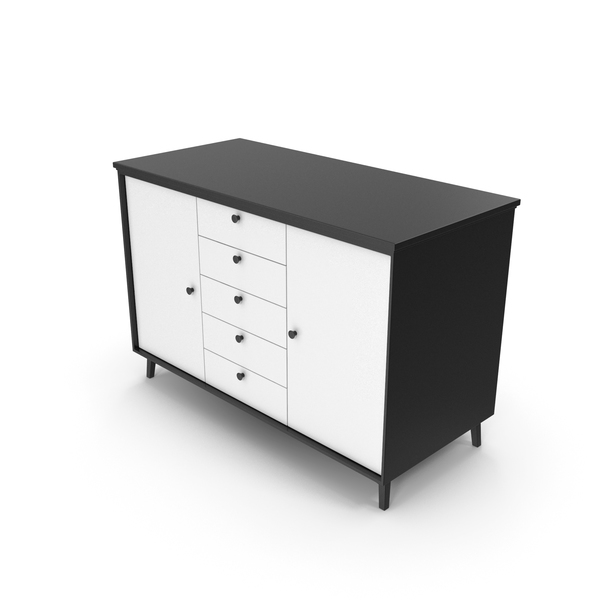 Tv Stand: Cabinet Black White PNG & PSD Images