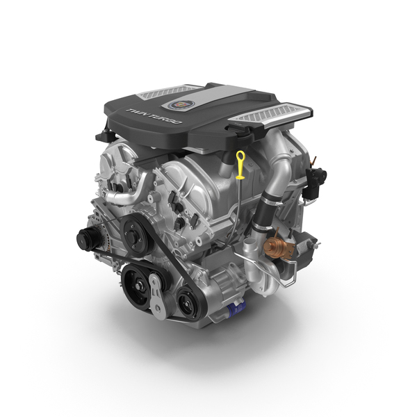 Auto: Cadillac Twin Turbo V6 Car Engine PNG & PSD Images