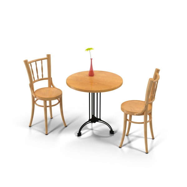 Cafe Table And Chairs PNG & PSD Images