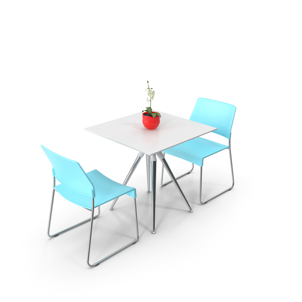 Cafeteria Table and Chairs PNG & PSD Images