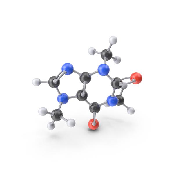 Caffeine Molecule PNG & PSD Images