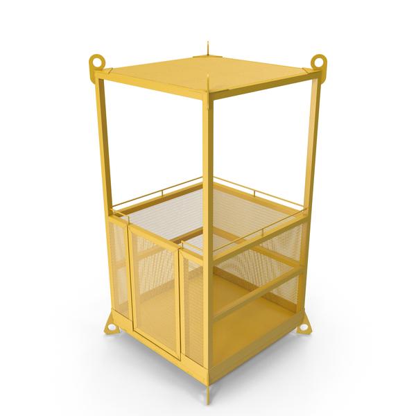 Man: Cage Crane Basket PNG & PSD Images