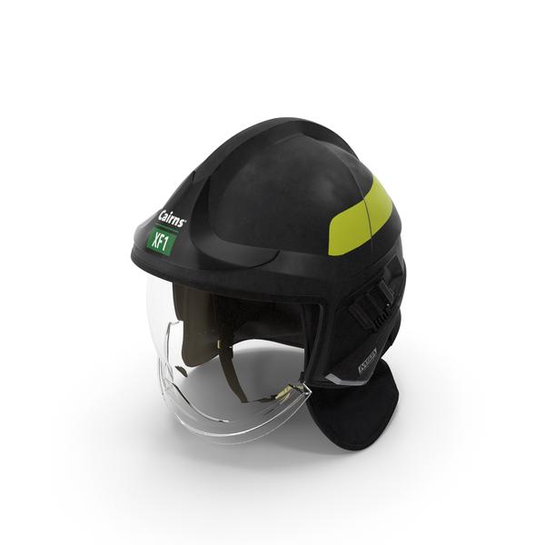 Cairns XF1 Fire Helmet Black PNG & PSD Images