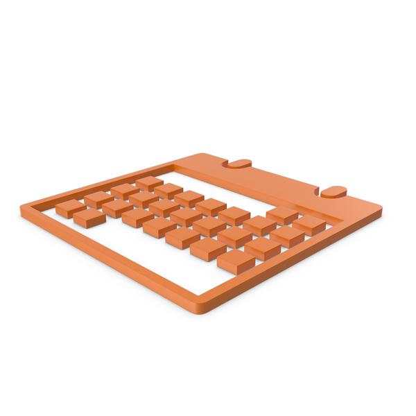 Calendar Orange Symbol PNG & PSD Images