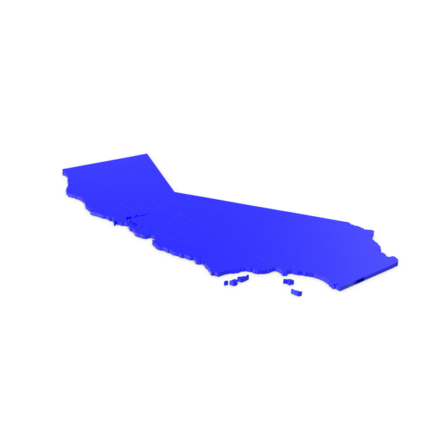 California Counties Map PNG & PSD Images