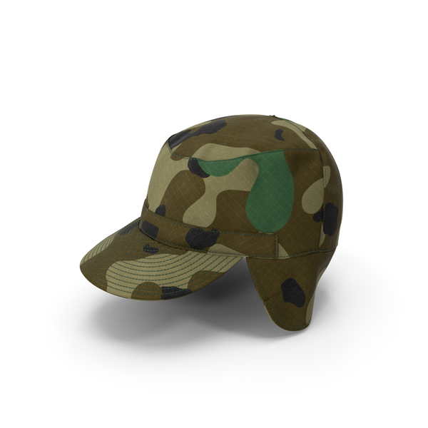 Camo Field Cap with Earflaps PNG & PSD Images