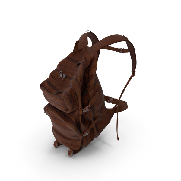 Camping Backpack Brown PNG & PSD Images