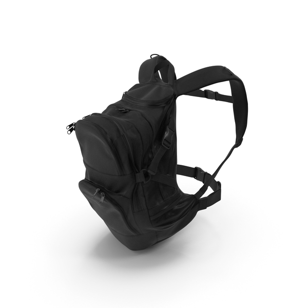 Camping Backpack Medium Black PNG & PSD Images