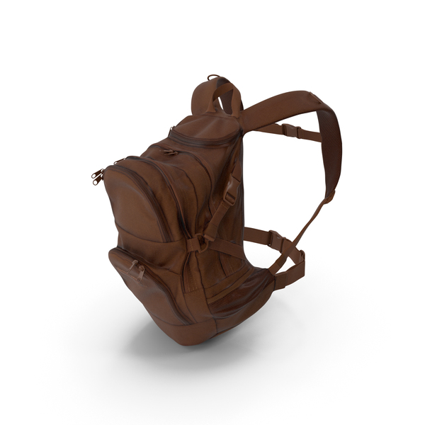 Camping Backpack Medium Brown PNG & PSD Images