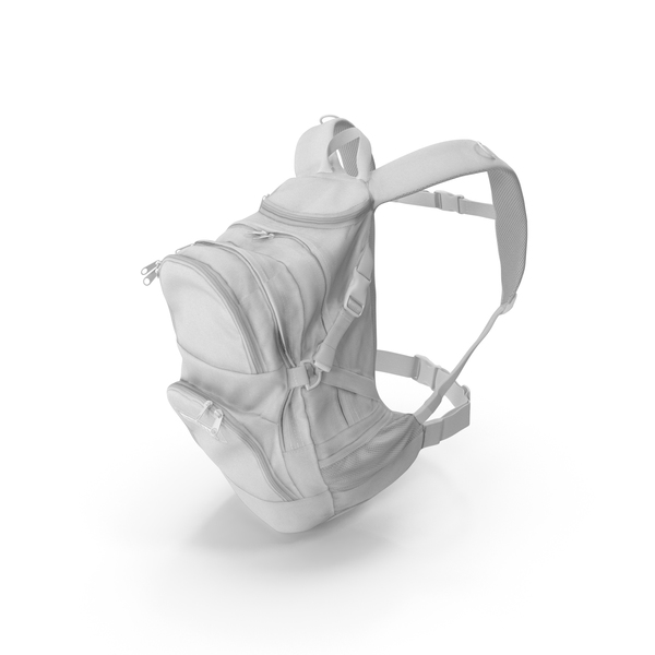 Camping Backpack Medium White PNG & PSD Images
