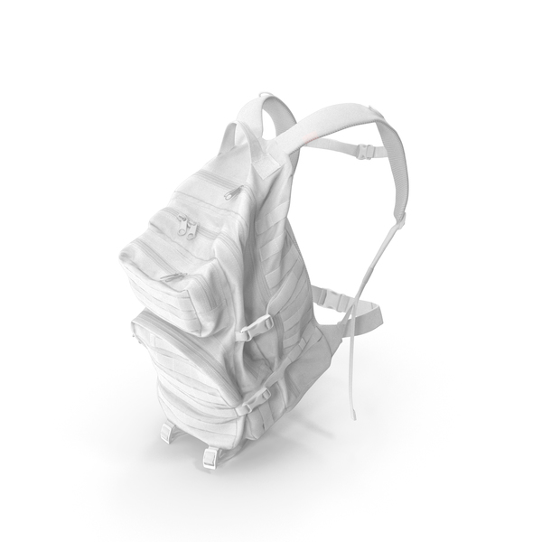 Camping Backpack White PNG & PSD Images