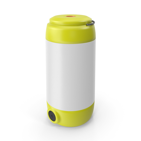 Camping LED Lantern Yellow PNG & PSD Images