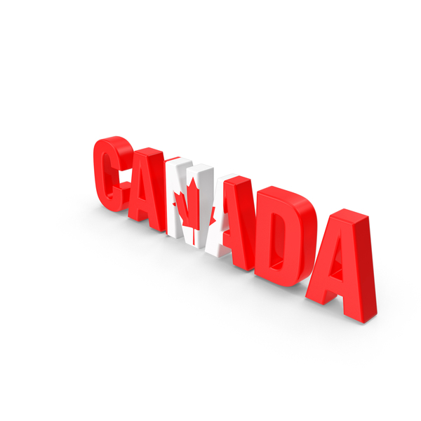 Canada Text PNG & PSD Images