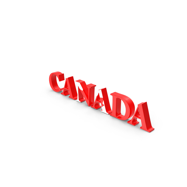 Language: Canada Text with Flag PNG & PSD Images