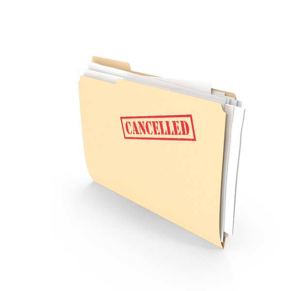 Cancelled Folder Vertical PNG & PSD Images