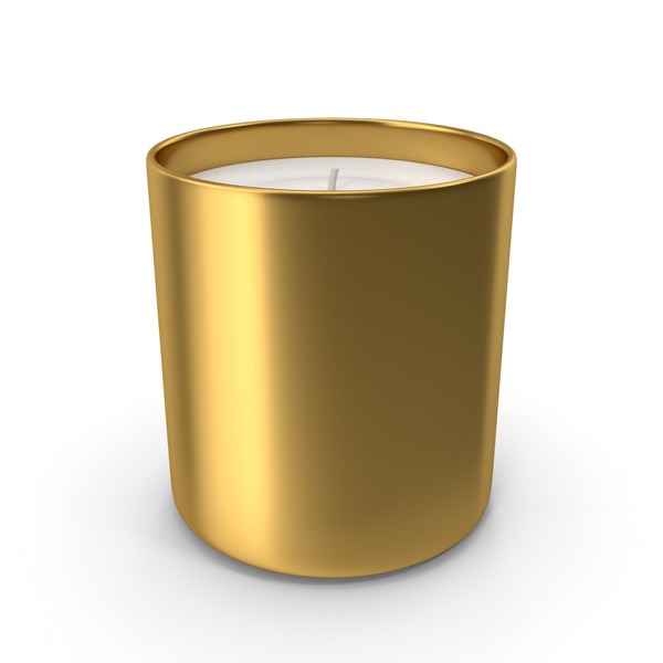 Scented: Candle Gold PNG & PSD Images