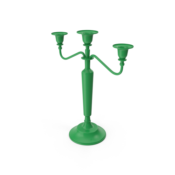 Candlestick: Candle Holder Green PNG & PSD Images