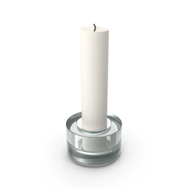 Candle In Glass Holder PNG & PSD Images