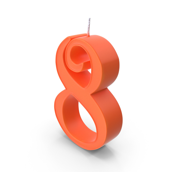 Candle Number 8 PNG & PSD Images