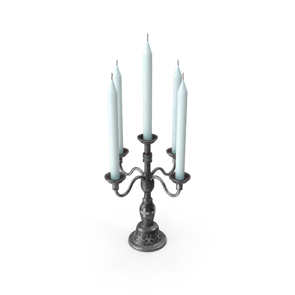 Candle Stand Black metal PNG & PSD Images