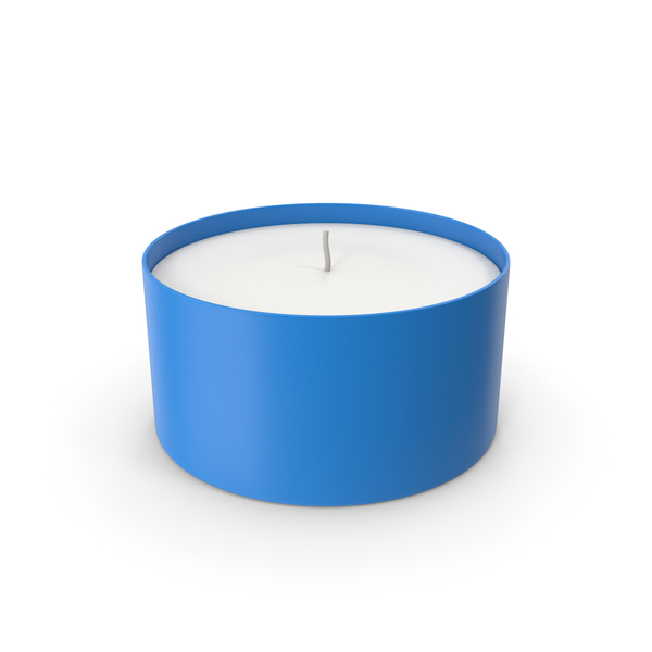 Tea Light: Candle With Cup Blue PNG & PSD Images