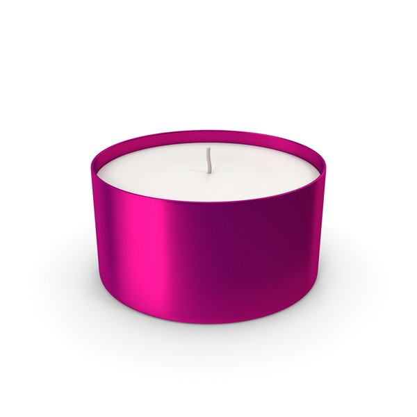 Tea Light: Candle With Cup Purple PNG & PSD Images