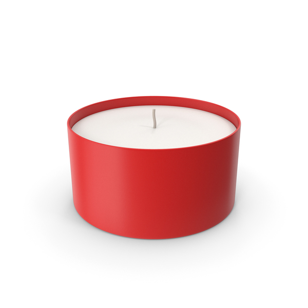 Tea Light: Candle With Cup Red PNG & PSD Images