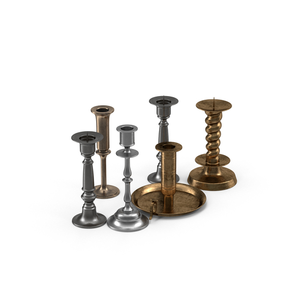Candlestick Holder Set PNG & PSD Images