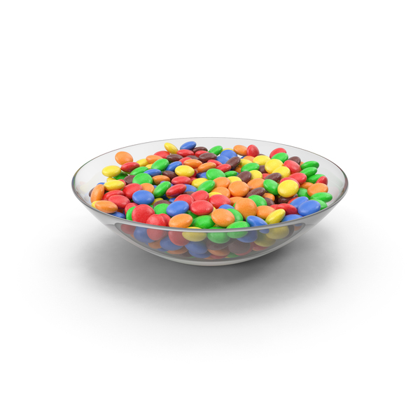Candy in Glass Bowl PNG & PSD Images