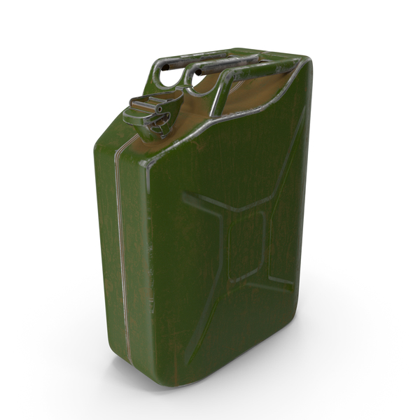 Fuel Can: Canister Painted Green PNG & PSD Images