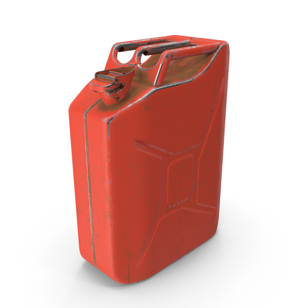 Fuel Container: Canister Painted Red PNG & PSD Images