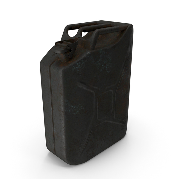 Fuel Container: Canister Rusted Black PNG & PSD Images