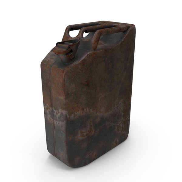 Fuel Container: Canister Rusted Dark PNG & PSD Images