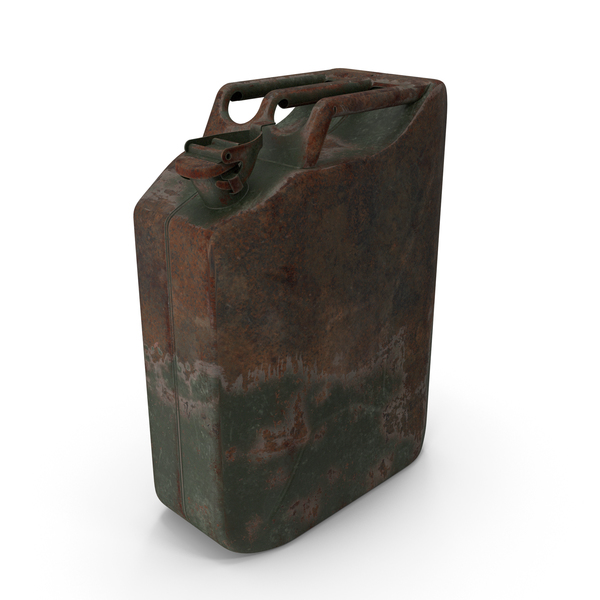 Fuel Container: Canister Rusted Green PNG & PSD Images