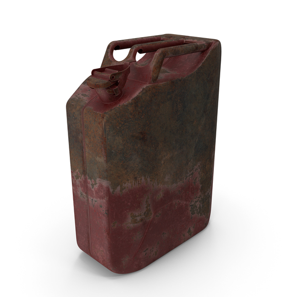 Fuel Container: Canister Rusted Red PNG & PSD Images