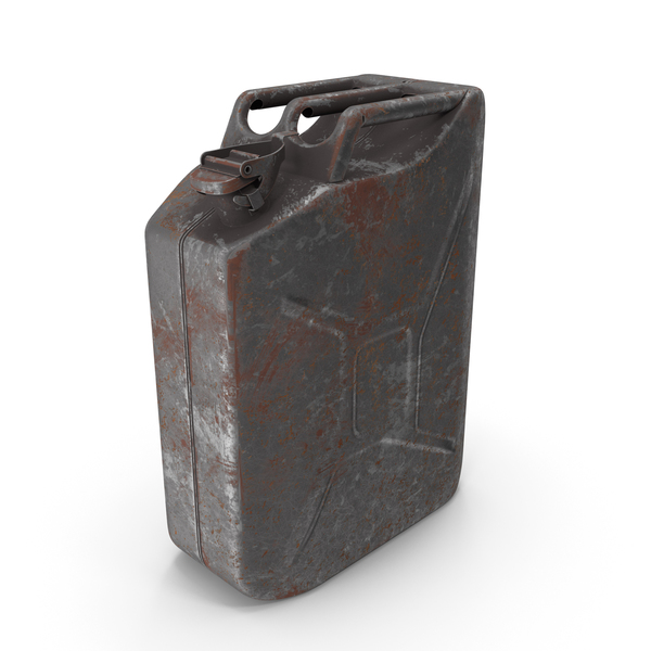 Fuel Container: Canister_Rusted_Steel PNG & PSD Images