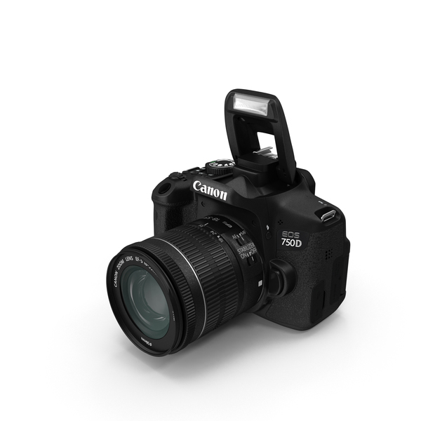 Digital Camera: Canon EOS 750D PNG & PSD Images