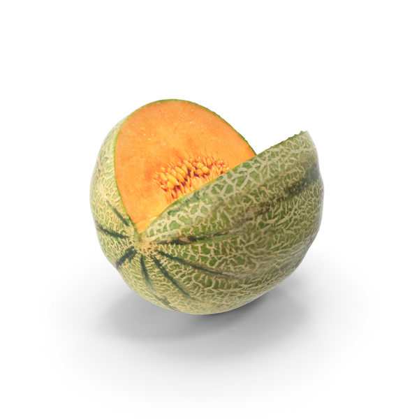 Cantaloupe Cut PNG & PSD Images