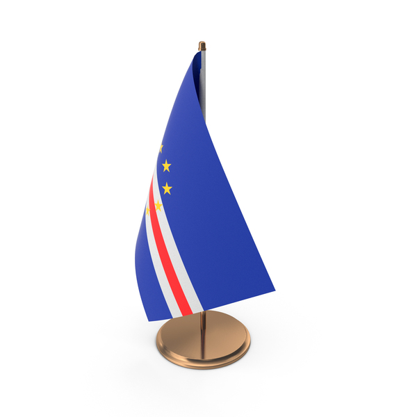Cape Verde Desk Flag PNG & PSD Images
