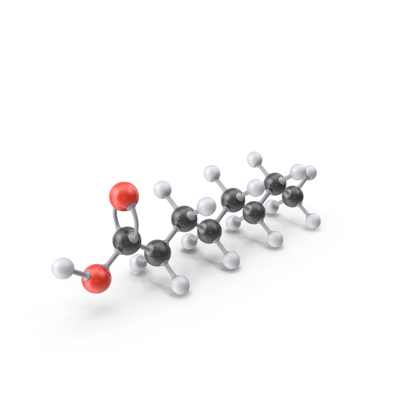 Caprylic Acid Molecule PNG & PSD Images