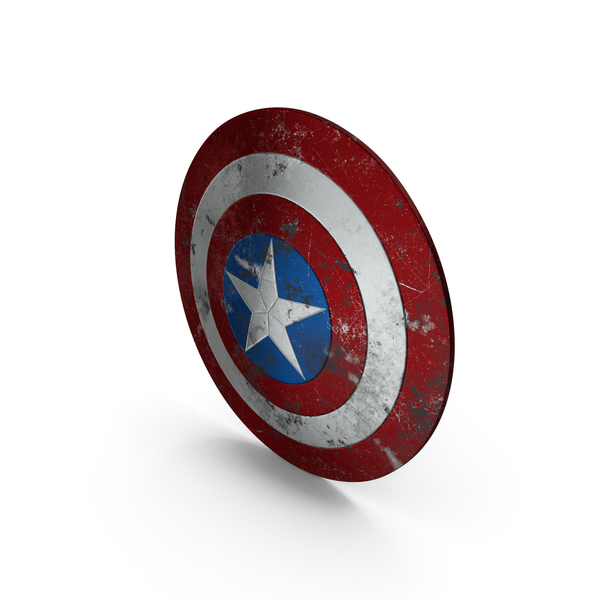 Captain America Damaged Shield PNG & PSD Images